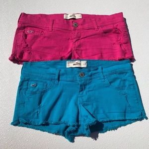 Hollister Blue Pink Jean Shorts Size 7